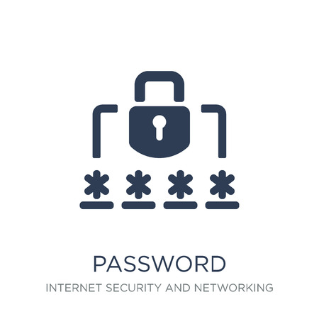 Password icon. Trendy flat vector Password icon on white background from Internet Security and Networking collection, vector illustration can be use for web and mobile, eps10