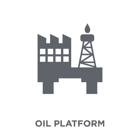 Oil platform icon. Oil platform design concept from  collection. Simple element vector illustration on white background. Illustration