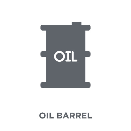 Oil barrel icon. Oil barrel design concept from Industry collection. Simple element vector illustration on white background. Foto de archivo - 112138195