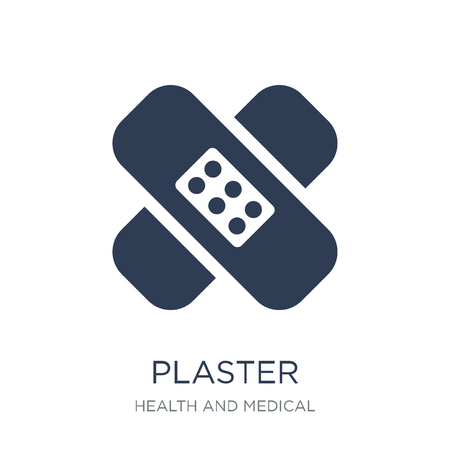 Plaster icon. Trendy flat vector Plaster icon on white background from Health and Medical collection, vector illustration can be use for web and mobile, eps10
