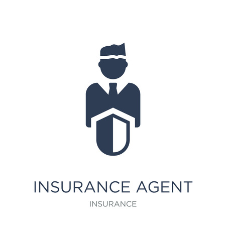 Insurance agent icon. Trendy flat vector Insurance agent icon on white background from Insurance collection, vector illustration can be use for web and mobile, eps10