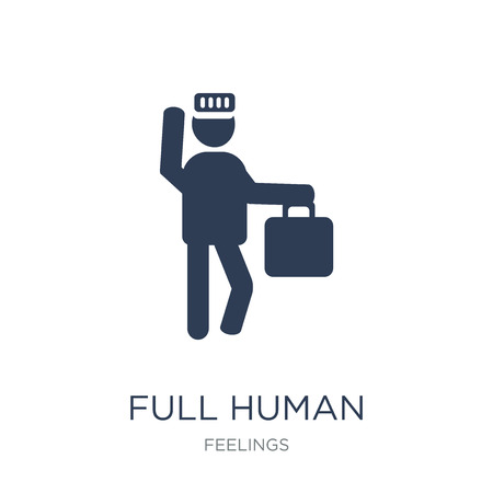 full human icon. Trendy flat vector full human icon on white background from Feelings collection, vector illustration can be use for web and mobile, eps10 Stock Vector - 112138421