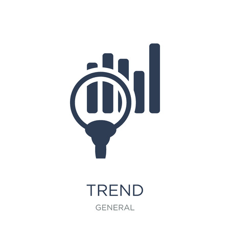 trend icon. Trendy flat vector trend icon on white background from General collection, vector illustration can be use for web and mobile, eps10