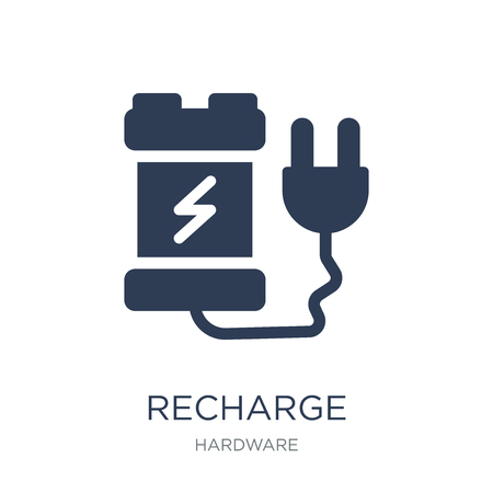 Recharge icon. Trendy flat vector Recharge icon on white background from hardware collection, vector illustration can be use for web and mobile, eps10