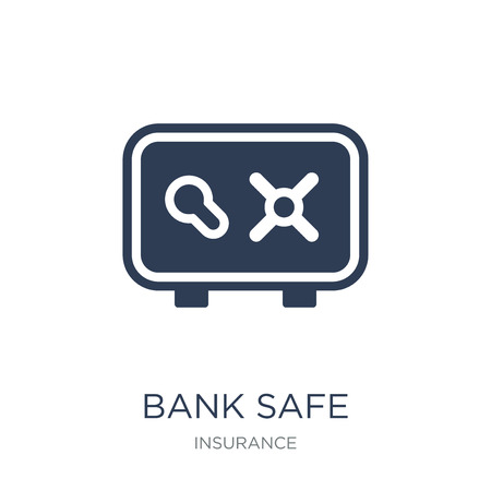 bank safe icon. Trendy flat vector bank safe icon on white background from Insurance collection, vector illustration can be use for web and mobile, eps10
