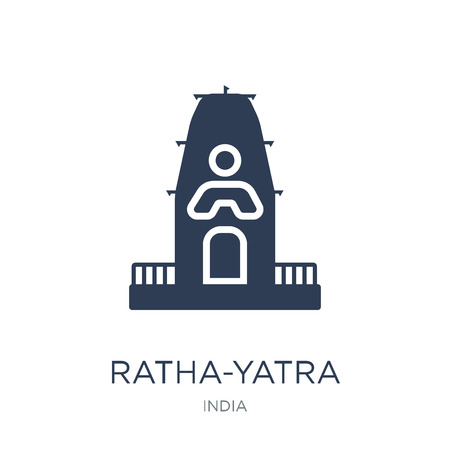 ratha-yatra icon. Trendy flat vector ratha-yatra icon on white background from india collection, vector illustration can be use for web and mobile, eps10