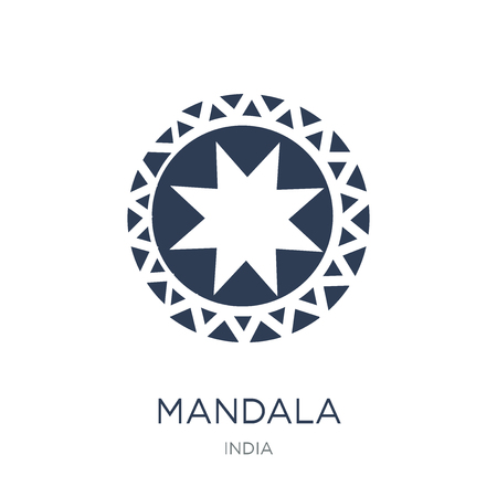 Mandala icon. Trendy flat vector Mandala icon on white background from india collection, vector illustration can be use for web and mobile, eps10 Illustration