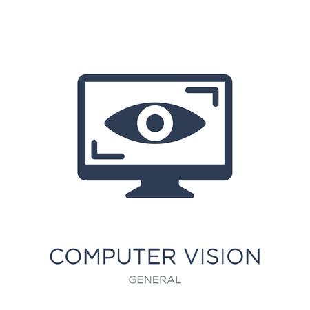 icono de visión por computadora. Icono de visión por computadora de moda vector plano sobre fondo blanco de colección general, Ilustración de vectores se puede utilizar para web y móvil, eps10 Ilustración de vector