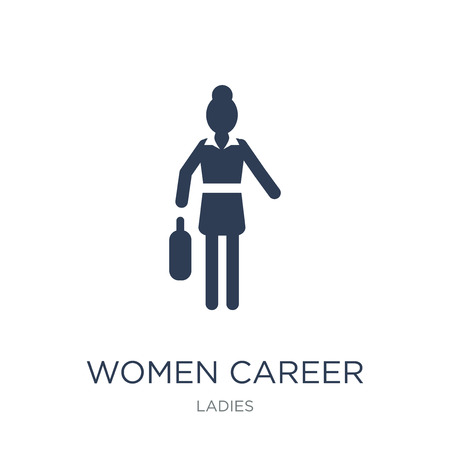 Women Career icon. Trendy flat vector Women Career icon on white background from Ladies collection, vector illustration can be use for web and mobile Çizim