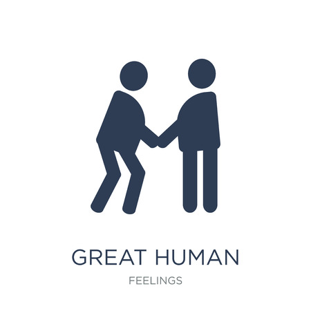 great human icon. Trendy flat vector great human icon on white background from Feelings collection, vector illustration can be use for web and mobile, eps10 Çizim