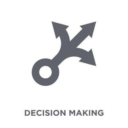 Decision making icon. Decision making design concept from Human resources collection. Simple element vector illustration on white background. 免版税图像 - 112138724