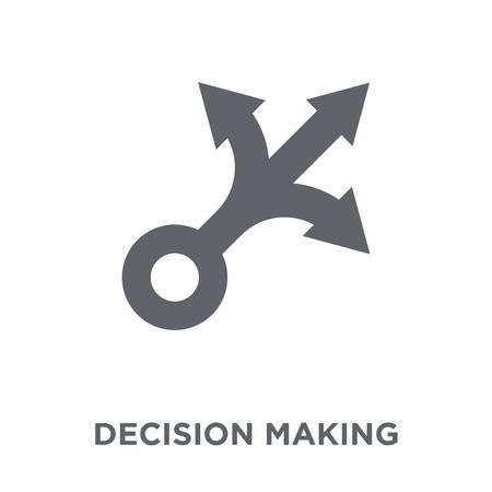 Symbol für Entscheidungsfindung. Designkonzept zur Entscheidungsfindung aus der Personalsammlung. Einfache Elementvektorillustration auf weißem Hintergrund.