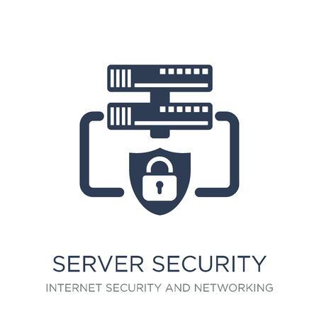 Icône de sécurité du serveur. Icône de sécurité serveur vecteur plat sur fond blanc de la collection Internet Security and Networking, illustration vectorielle peut être utilisé pour le web et mobile, eps10