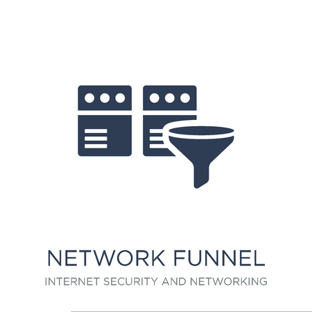 network Funnel icon. Trendy flat vector network Funnel icon on white background from Internet Security and Networking collection, vector illustration can be use for web and mobile, eps10
