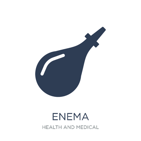 Enema icon. Trendy flat vector Enema icon on white background from Health and Medical collection, vector illustration can be use for web and mobile, eps10 Illustration