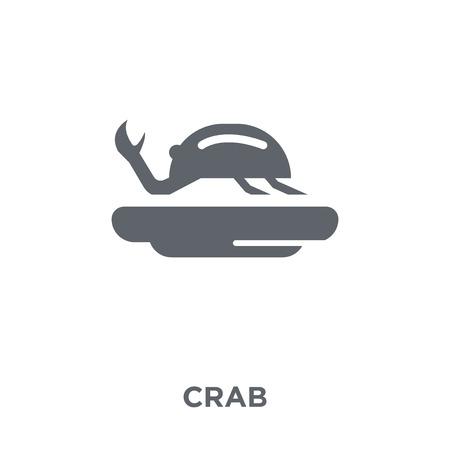 Crab icon. Crab design concept from Restaurant collection. Simple element vector illustration on white background.