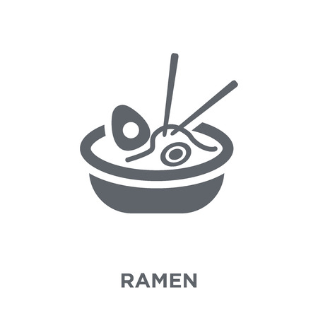 Ramen icon. Ramen design concept from Restaurant collection. Simple element vector illustration on white background. Stock Vector - 112138768