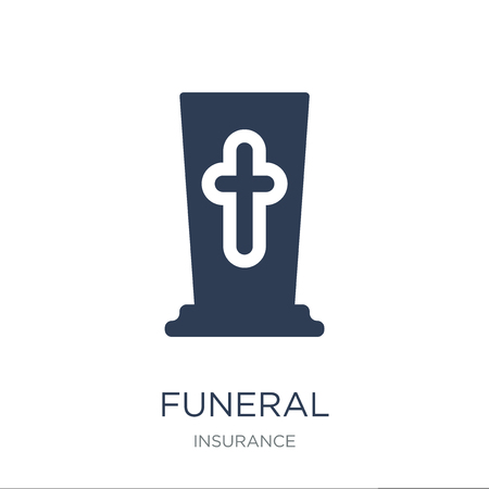 Funeral icon. Trendy flat vector Funeral icon on white background from Insurance collection, vector illustration can be use for web and mobile, eps10