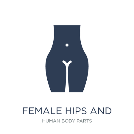 Female hips and waist icon. Trendy flat vector Female hips and waist icon on white background from Human Body Parts collection, vector illustration can be use for web and mobile, eps10 Banco de Imagens - 112138776