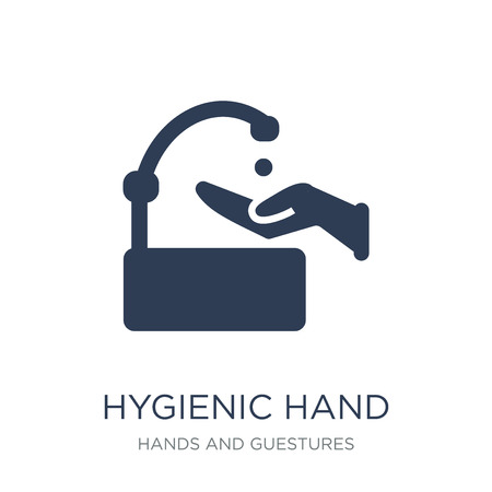 Hygienic hand icon. Trendy flat vector Hygienic hand icon on white background from Hands and guestures collection, vector illustration can be use for web and mobile, eps10 写真素材 - 112138774