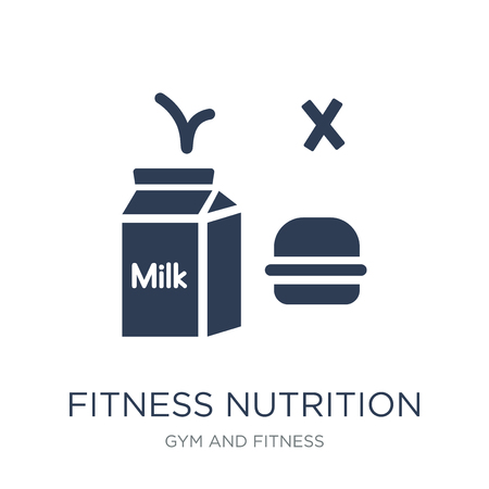 Fitness Nutrition icon. Trendy flat vector Fitness Nutrition icon on white background from Gym and fitness collection, vector illustration can be use for web and mobile, eps10