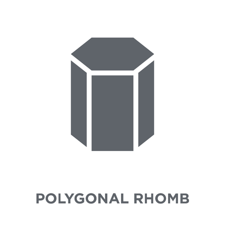 Polygonal rhomb icon. Polygonal rhomb design concept from Geometry collection. Simple element vector illustration on white background.
