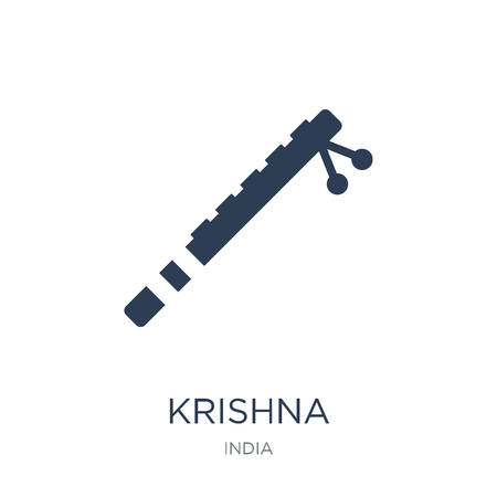 Krishna icon. Trendy flat vector Krishna icon on white background from india collection, vector illustration can be use for web and mobile, eps10