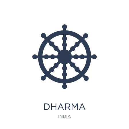 Dharma icon. Trendy flat vector Dharma icon on white background from india collection, vector illustration can be use for web and mobile, eps10 Imagens - 112138802