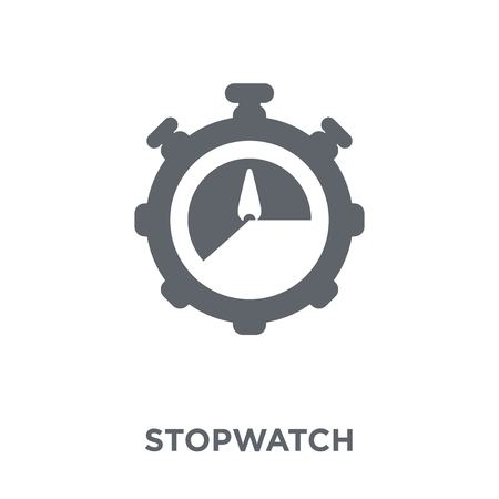 Stopwatch icon. Stopwatch design concept from Time managemnet collection. Simple element vector illustration on white background.