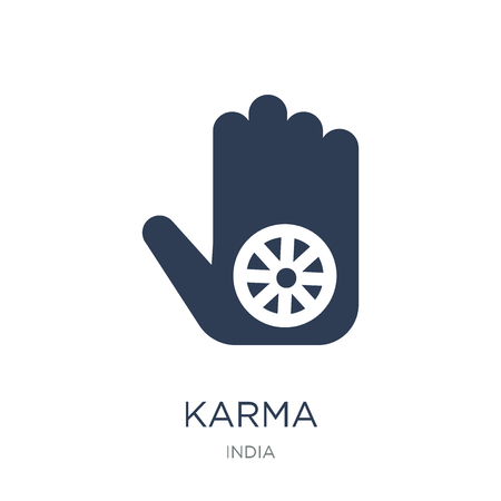 Karma icon. Trendy flat vector Karma icon on white background from india collection, vector illustration can be use for web and mobile, eps10 Ilustracja