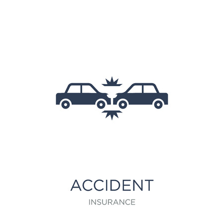 Accident icon. Trendy flat vector Accident icon on white background from Insurance collection, vector illustration can be use for web and mobile, eps10 Illustration