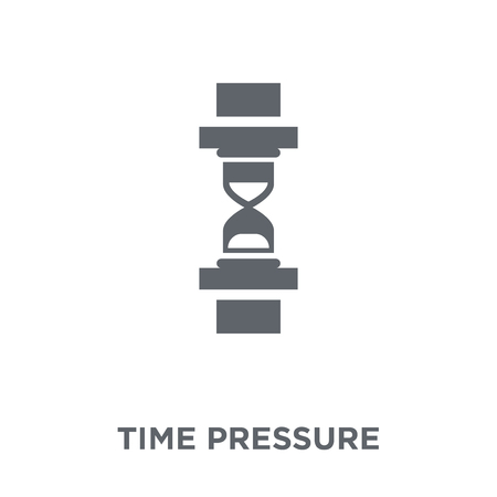 Time pressure icon. Time pressure design concept from Time managemnet collection. Simple element vector illustration on white background. 向量圖像