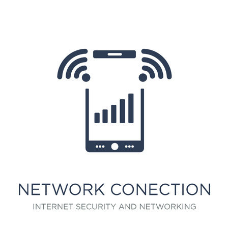 network Conection icon. Trendy flat vector network Conection icon on white background from Internet Security and Networking collection, vector illustration can be use for web and mobile, eps10