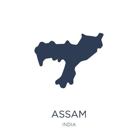 assam icon. Trendy flat vector assam icon on white background from india collection, vector illustration can be use for web and mobile, eps10 Illustration