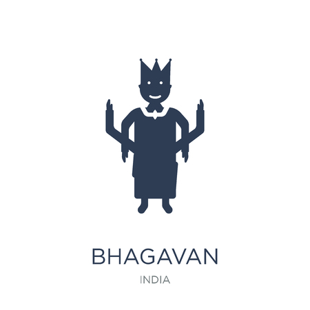 bhagavan icon. Trendy flat vector bhagavan icon on white background from india collection, vector illustration can be use for web and mobile, eps10 일러스트