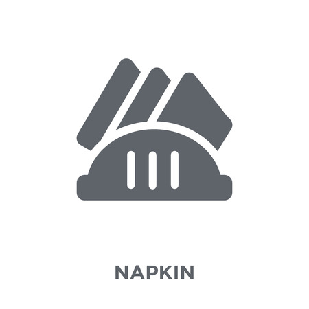 Napkin icon. Napkin design concept from  collection. Simple element vector illustration on white background. 일러스트