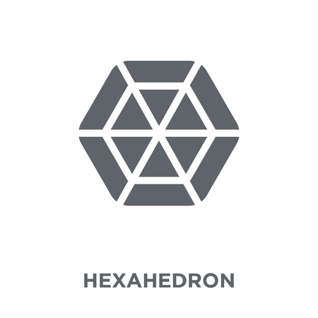 Hexahedron icon. Hexahedron design concept from Geometry collection. Simple element vector illustration on white background.