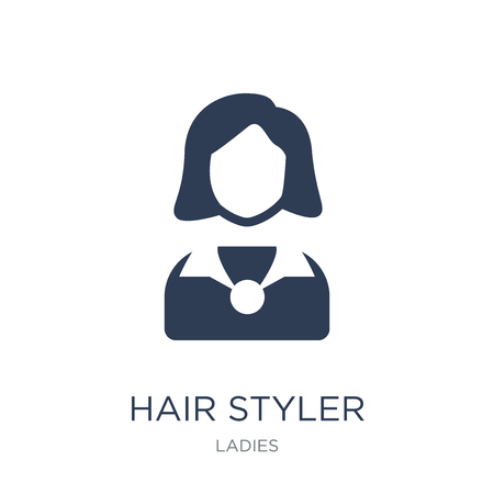 Hair Styler icon. Trendy flat vector Hair Styler icon on white background from Ladies collection, vector illustration can be use for web and mobile, eps10 Иллюстрация