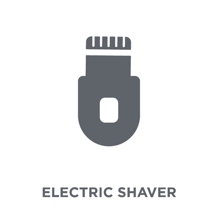 Electric shaver icon. Electric shaver design concept from  collection. Simple element vector illustration on white background. Stock Illustratie