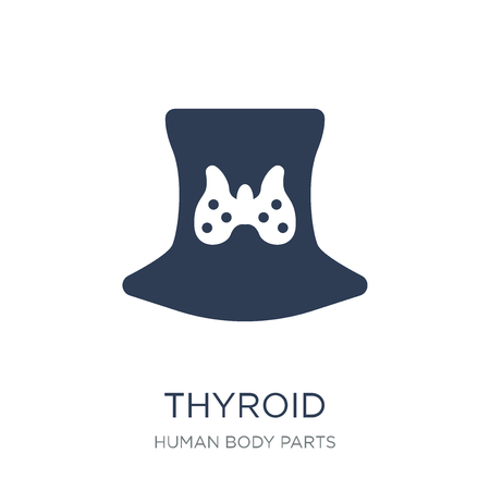 Thyroid icon. Trendy flat vector Thyroid icon on white background from Human Body Parts collection, vector illustration can be use for web and mobile, eps10