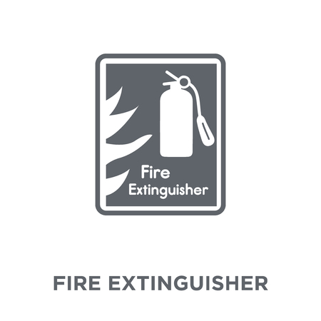 Fire extinguisher icon. Fire extinguisher design concept from Hotel collection. Simple element vector illustration on white background. Standard-Bild - 112138872
