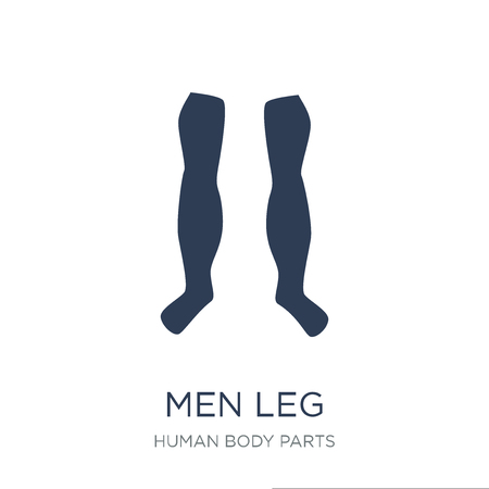 Men Leg icon. Trendy flat vector Men Leg icon on white background from Human Body Parts collection, vector illustration can be use for web and mobile, eps10