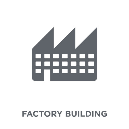 Factory building icon. Factory building design concept from Industry collection. Simple element vector illustration on white background. Standard-Bild - 112138882