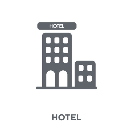 Hotel icon. Hotel design concept from Hotel collection. Simple element vector illustration on white background.
