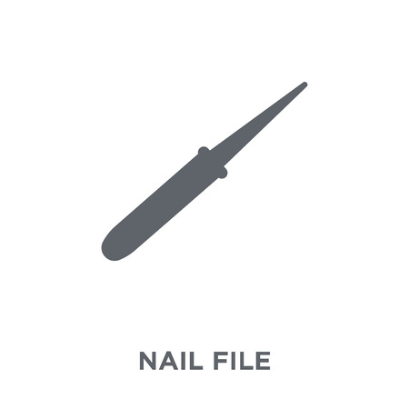 Nail file icon. Nail file design concept from  collection. Simple element vector illustration on white background. Ilustração