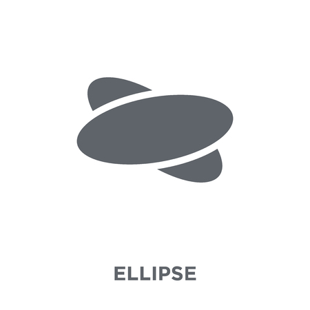 Ellipse icon. Ellipse design concept from Geometry collection. Simple element vector illustration on white background. Ilustração
