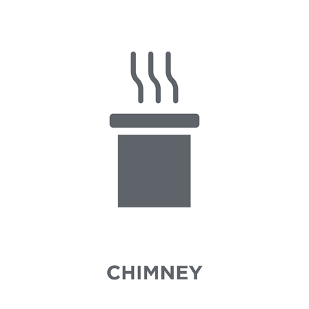 Chimney icon. Chimney design concept from  collection. Simple element vector illustration on white background. Illustration