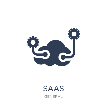 saas icon. Trendy flat vector saas icon on white background from General collection, vector illustration can be use for web and mobile, eps10