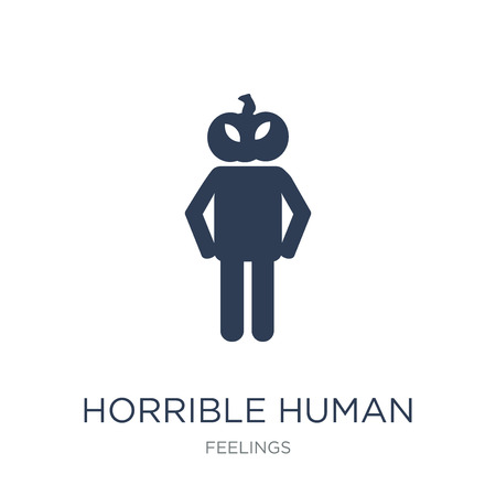 horrible human icon. Trendy flat vector horrible human icon on white background from Feelings collection, vector illustration can be use for web and mobile, eps10 Illustration