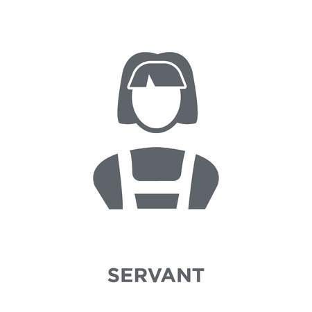 Servant icon. Servant design concept from Hotel collection. Simple element vector illustration on white background. Stockfoto - 112138949